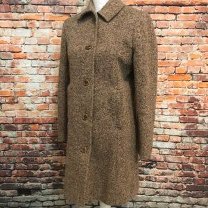 VTG LL Bean Tweed Wool Trench Coat